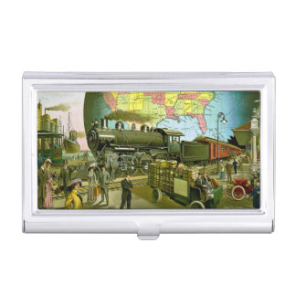 Golden Age of Travel Vintage Business Card Cases