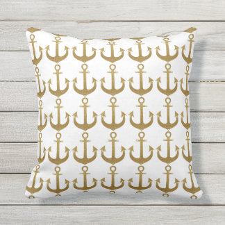golden anchors beach house outdoor cushion