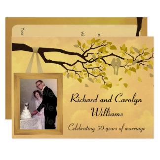 Golden Anniversary 50th Love Birds Invitation