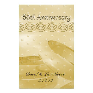 Golden Anniversary Bands Of Love Stationery