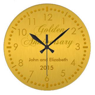 Golden Anniversary Large Clock