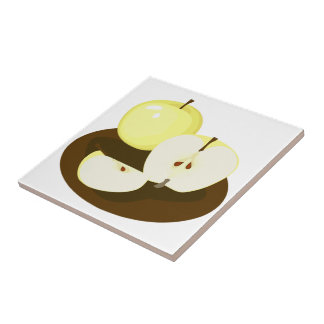 Golden Apples Kitchen Tile