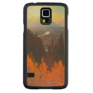 Golden Aspens Above Snake River At Sunset Carved Maple Galaxy S5 Case