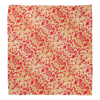 Golden beautiful baroque stylish elegant pattern kerchief