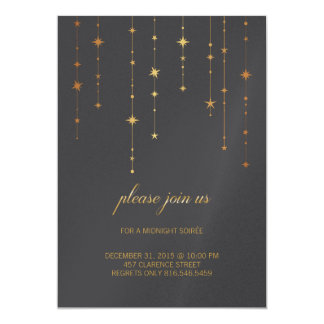 Golden Birthday or New Year's Eve Party Invitation