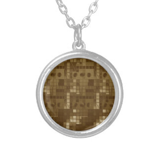 Golden Brown Abstract Jewelry