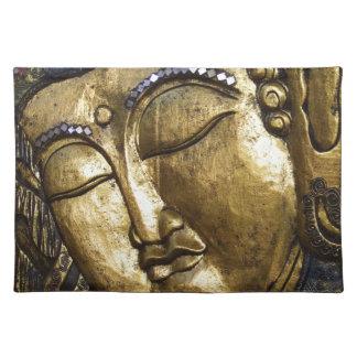 Golden Buddha Blessing Inspirational Love Placemat