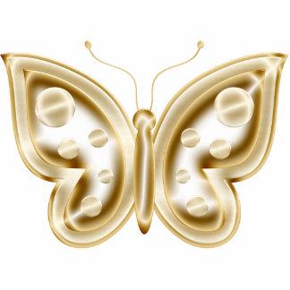 Golden Butterfly Magnet Photo Cutout