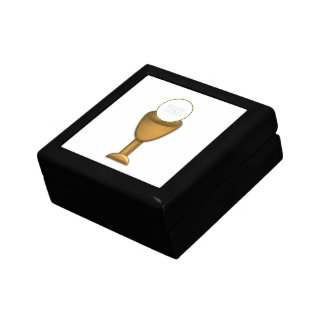 Golden Chalice and Host - Holy Communion Gift Box