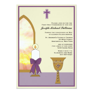 Golden Chalice - Religious Invitation