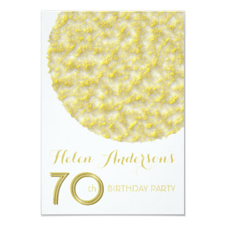Golden Circle 70th Birthday Party Invitation