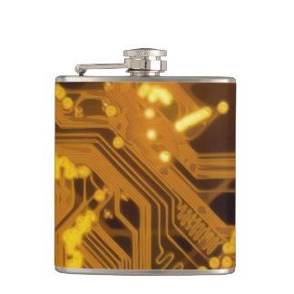 Golden Circuit Board Flask