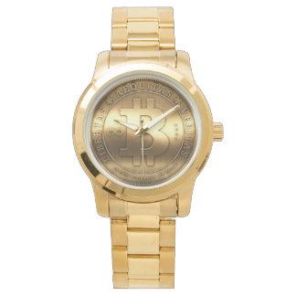 Golden clock Bitcoin Watch
