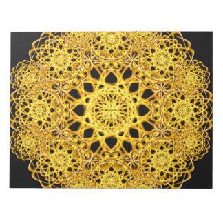 Golden Cross Mandala Notepad