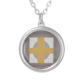 Golden Cross Sparkle White Crystal Beads Gifts Necklaces