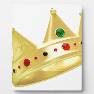 Golden crown plaque
