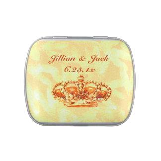 Golden Crown WEDDING Candy Tins