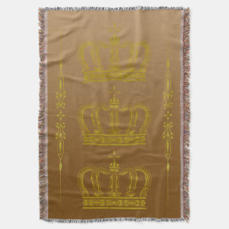 Golden Crown + your ideas Throw Blanket