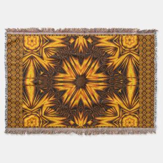 Golden Dandelion Throw Blanket