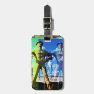 Golden Driller Luggage Tag