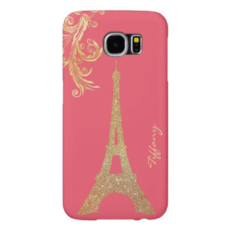 Golden Eiffel Tower Custom Samsung S6 Case