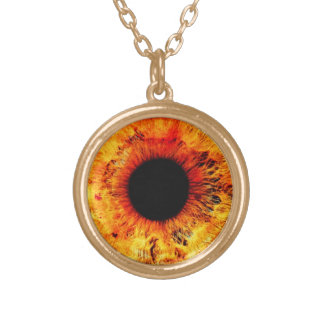 Golden Eye Pendant Necklace Third Eye Jewelry