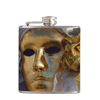 Golden Face Hip Flask