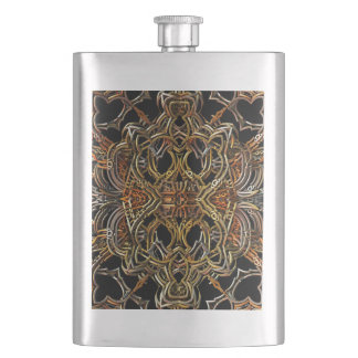 Golden Filigree Hip Flask
