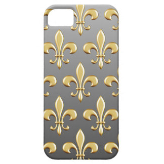 Golden Fleur De Lis Pattern on Gradient Barely There iPhone 5 Case