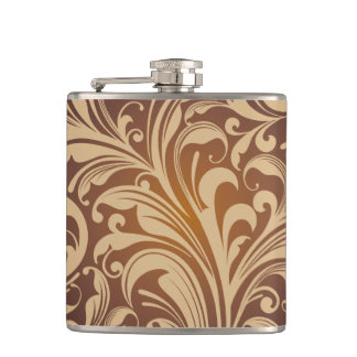 Golden floral Flask