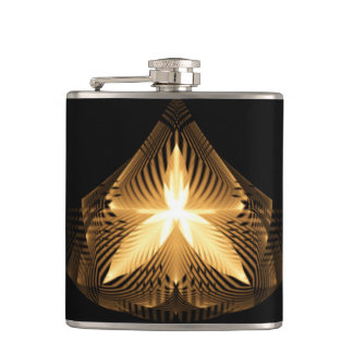 Golden Flourish 1 Wrapped Flask