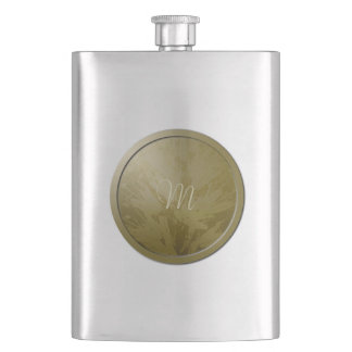 Golden Flowers Monogram Flask