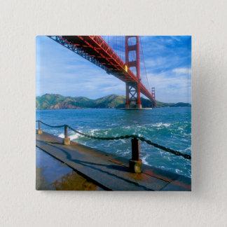 Golden Gate bridge and San Francisco Bay 2 15 Cm Square Badge