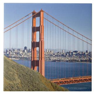 Golden Gate Bridge and San Francisco. Tile