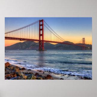 Golden Gate Bridge from San Francisco bay trail. Poster