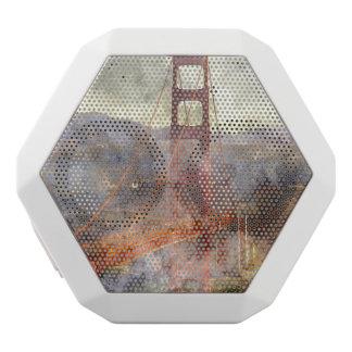 Golden Gate Bridge in San Francisco California White Bluetooth Speaker