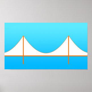 Golden Gate Bridge Minimalist Poster
