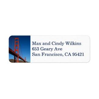 Golden Gate Bridge return address label 2