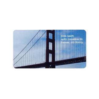Golden Gate Bridge Silhouette Label