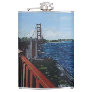 Golden Gate Morning Vinyl Wrapped Flask