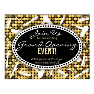 Golden Glam Custom Hair Salon Event Postcard