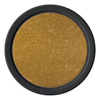 Golden glitter poker chips