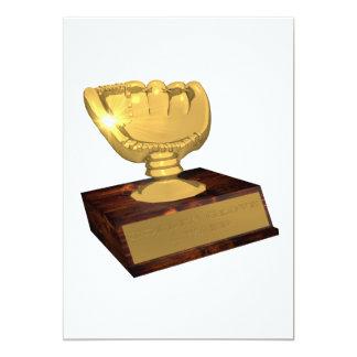 Golden Glove Award 13 Cm X 18 Cm Invitation Card