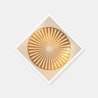 GOLDEN Gold Chakra Positive Energy Aura Disposable Serviette