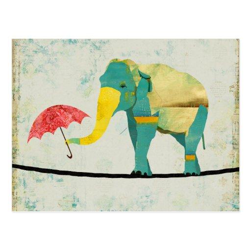 Golden Graceful Elephant Postcard