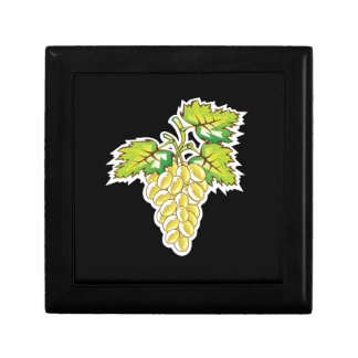 Golden Grapes Vector Art Gift Box