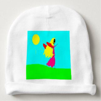Golden Hair Fairy Sun, Art by Kids, Baby Hat Baby Beanie