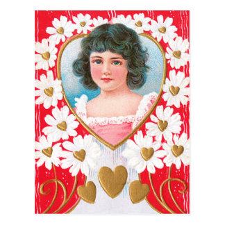 Golden Hearts and White Daisies Postcard