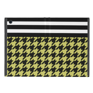 Golden Houndstooth w/ Stripes 2 Case For iPad Mini