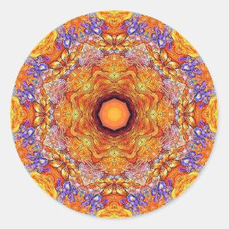 Golden Iris Mandala No 1 Classic Round Sticker